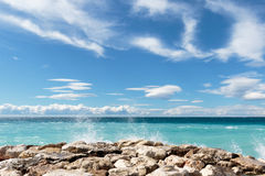 Azure IV. Seascape taken from the 'Promenade-des-Anglais' in Nice on the 'Cote-D'Azur Stock Photography