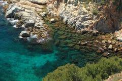 Azure lagoon. The azure lagoon in Tossa de Mar, Spain Royalty Free Stock Photos