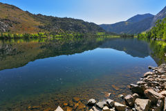 Azure lake Silver in autumn day Stock Photography