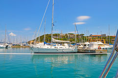 Azure Marina on Elba island Royalty Free Stock Photography
