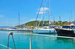 Azure Marina on Elba island Stock Images