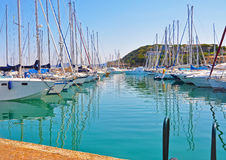 Azure Marina on Elba island Royalty Free Stock Photo