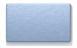 Azure metal rectangular plate Stock Photography