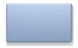 Azure metal rectangular plate Stock Photography