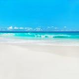Azure ocean beach, Anse Georgette, island Praslin, Seychelles Stock Image