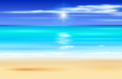 Azure ocean, blue sky, white sand Stock Images