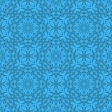 Azure Ornamental Seamless Line Pattern Image libre de droits