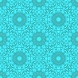 Azure Ornamental Seamless Line Pattern Illustration de Vecteur