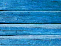 Azure painted balks wall background Royalty Free Stock Photos