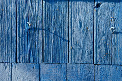 Azure painted boards background Royalty Free Stock Image