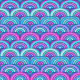 Azure Pattern. Psychedelic azure pattern, hypnotic ornament Royalty Free Stock Photo