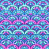 Azure Pattern. Psychedelic azure pattern, hypnotic ornament Vector Illustration