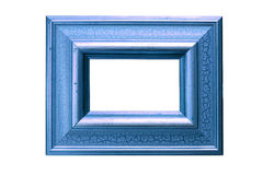 Azure Picture Frame. Original gold leaf frame has been adjusted in a complementary colour. Clipping paths included Royalty Free Stock Photography