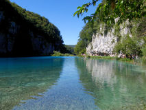Azure Plitvice lakes Royalty Free Stock Photo