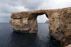 Azure rock on Gozo Stock Photos