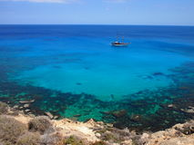 Azure sea royalty free stock photo