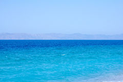 Azure sea in Greece Royalty Free Stock Photography