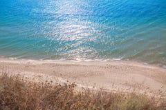 Azure sea shore Royalty Free Stock Photos