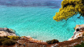 Azure Sea water Coast Stock Image