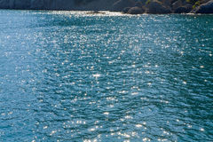 Azure sea water surface Royalty Free Stock Image