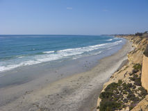 Azure Shore of Solana Beach, CA Royalty Free Stock Image
