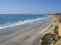 Azure Shore of Solana Beach, CA Royalty Free Stock Image