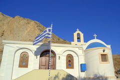 Azure sky,church and mountain,Santorini Royalty Free Stock Photo