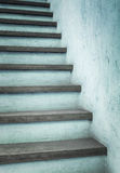 Azure stairs. Rustic azure colored or concrete stairs outdoor with abstract pattern and texture Royalty Free Stock Images