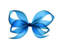 Azure Transparent Bow Isolated blu-chiaro Fotografia Stock