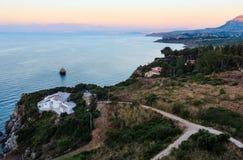 Faraglioni at Scopello, Sicily, Italy Royalty Free Stock Photography