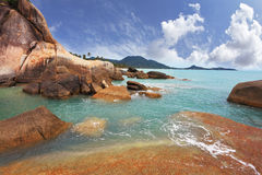 Azure warm water and white sand Royalty Free Stock Photo