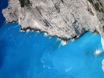 Azure water of Ionian sea, Zakynthos island, Greece Royalty Free Stock Image