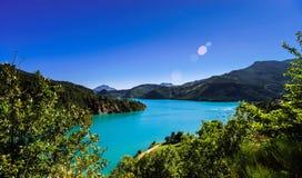 Azure water of Lac De La Castillon Royalty Free Stock Photo