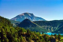 Azure water of Lac De La Castillon Royalty Free Stock Images