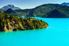 Azure water of Lac De La Castillon Stock Photography