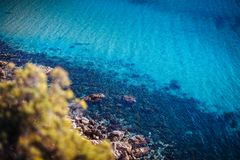 Azure water of Malta royalty free stock photos