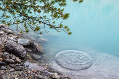 Azure water of mountain lake Royalty Free Stock Images