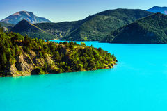 Free Azure Water Of Lac De La Castillon Stock Photography - 58392362