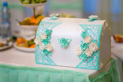 Azure Wedding box Stock Image