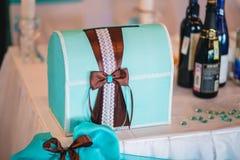 Azure Wedding box Stock Photo