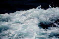 Azure and white boat wake seafoam Royalty Free Stock Photography