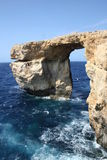 Azure window. Tourist attraction on island Gozo Stock Images