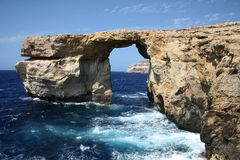 Azure window. Tourist attraction on a islad Gozo Royalty Free Stock Photo