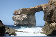Azure window. Tourist attraction on a island Gozo Royalty Free Stock Photo