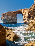 The Azure Window. Is a unique massive geologic formation in Gozo in Malta Royalty Free Stock Images
