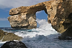Azure window. In a storm time. Dwejra. Gozo Royalty Free Stock Images