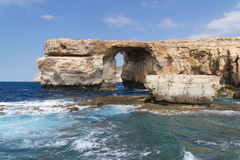 Azure window. View. Dwejra. Gozo Stock Photography