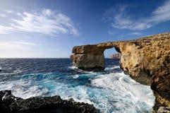 The Azure Window. The famous Azure Window in Dwejra, Gozo, Malta Royalty Free Stock Photos