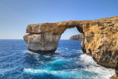 Azure Window. Famous stone arch on Gozo island, Malta Royalty Free Stock Image