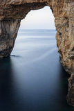 The Azure Window. The famous Azure Window in Gozo is a World Heritage Site in danger of immediate collapse.  In fact a large chunk of rock on the left side fell Stock Image